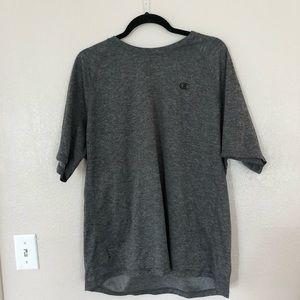 💛 men's champion heather gray workout shirt